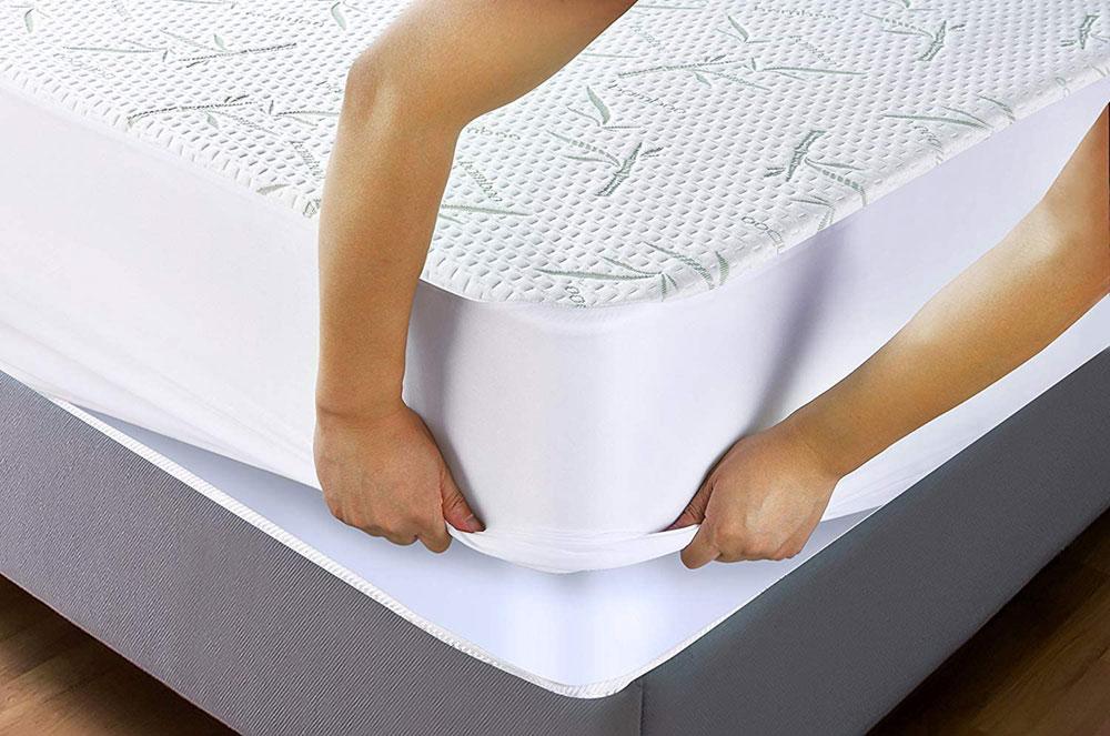 protector de colchón impermeable bambú
