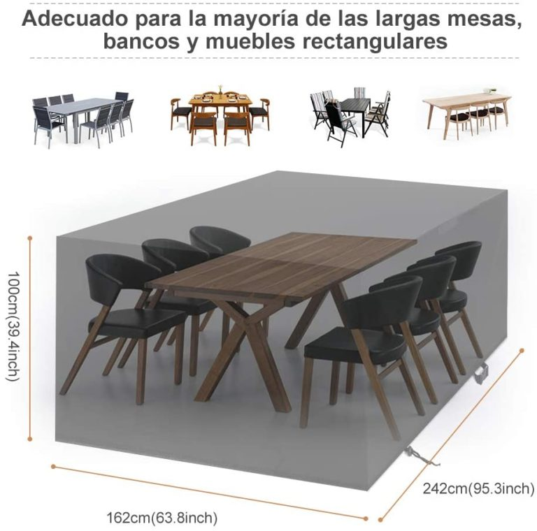 Fundas invierno muebles jardín impermeables